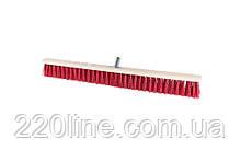 Щітка промислова MASTERTOOL 800х60х100 мм ПЕ+ПВХ дерев'яні з металевим кріпленням без ручки 14-6366