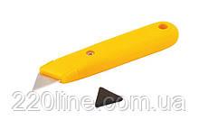 Нож MASTERTOOL трапеция пластиковый 17-0300