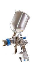 Краскопульт MASTERTOOL HVLP СБ 600 мл алюміній Ø1.4 мм 150-220 л/хв 3-4 бар тип А 80-8905
