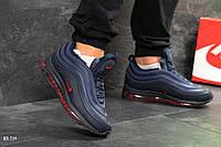 Мужские зимние кроссовки на меху в стиле Nike Найк 97, синие 43 (27,8 см), KS 734