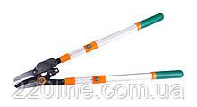 Сучкорез MASTERTOOL с храповым механизмом телескопические ручки 700-1030 мм тефлон AL ручки наковальня 14-6126