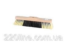 Щітка для підлоги MASTERTOOL 320х55х70 мм ПЕ+ПВХ+ПП дерев'яна без ручки 14-6345