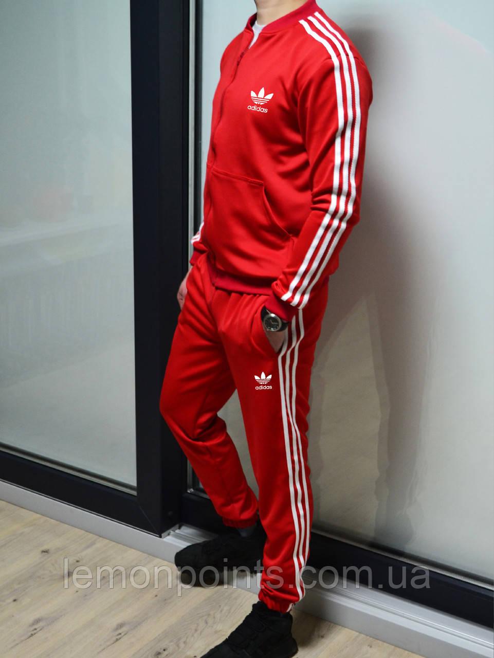 Теплий чоловічий спортивний костюм з лампасами Adidas (адідас) дайвінг