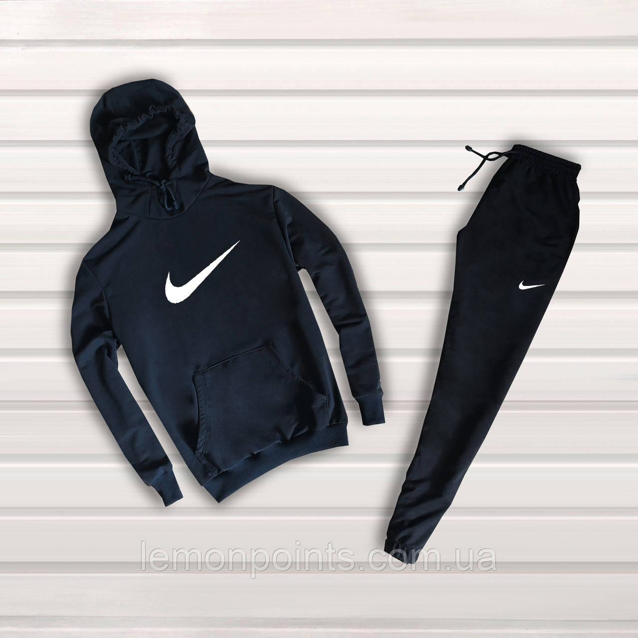 Теплый спортивный костюм Nike с капюшоном (черный ФЛИС (до -25 °С))