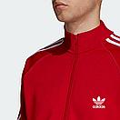 Теплый мужской спортивный костюм с лампасами Adidas на молнии (красный (Флис)) дайвинг, фото 3