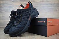 Мужские зимние кроссовки в стиле Merrell Меррелл Iceberg Moc, флис, черные с оранжевым 42 (26,5 см), ОД - 3416