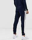 Теплий чоловічий спортивний костюм з лампасами Fila (Темно-синій), фото 3