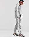 Теплий чоловічий спортивний костюм ФЛИС (до -25 °С) з лампасами Jordan (джордан), фото 3