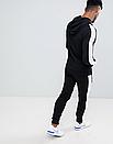 Теплый мужской спортивный костюм с лампасами New Balance (нью беланс) черный (Флис), фото 3
