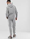 Теплый мужской спортивный костюм с лампасами Puma (пума) серый (Флис), фото 4