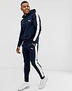 Теплый мужской спортивный костюм с лампасами Puma (синий (Флис)), фото 2