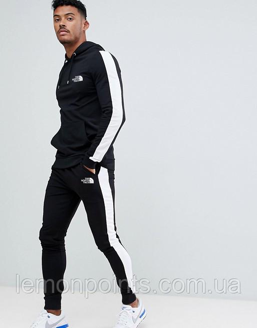 Теплий чоловічий спортивний костюм з лампасами The North Face (зе норз фейс)