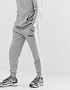 Теплий чоловічий спортивний костюм з лампасами Venum (Сірий), фото 2