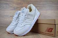 Женские зимние кроссовки на меху в стиле New Balance Нью беланс 574, кожа, белые 40 (25,5 см), ОД - 3369