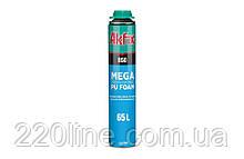 Пена монтажная всесезонная AKFIX 850 PROFI MEGA 65 л 850 мл/1000 г под пистолет FA007