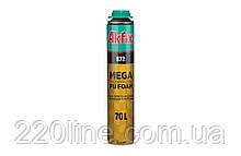 Пена монтажная всесезонная AKFIX 872 PROFI SUPER MEGA 70 л 850 мл/1035 г под пистолет FA018