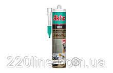 Силікон для душових кабін AKFIX 100D 280 мл/340 г прозорий SA061