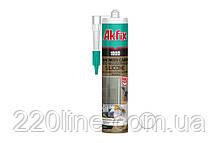 Силікон для душових кабін AKFIX 100D 280 мл/340 г білий SA062
