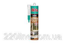 Герметик акриловий силіконізований AKFIX AS606 310 мл білий AA001