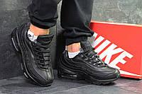 Мужские зимние кроссовки в стиле Nike Найк Air Max 95, черные 44 (28 см), Д - 6348