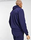 Теплый мужской спортивный костюм New Balance с капюшоном (Нью Беленс) синий (Флис), фото 3