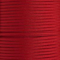 Шнур нейлоновый 4 мм (паракорд) красный, 50 м