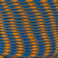 Шнур нейлоновый 4 мм (паракорд) желто-синий, 50 м