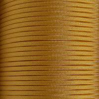 Шнур нейлоновый 4 мм (паракорд) желтый, 50 м