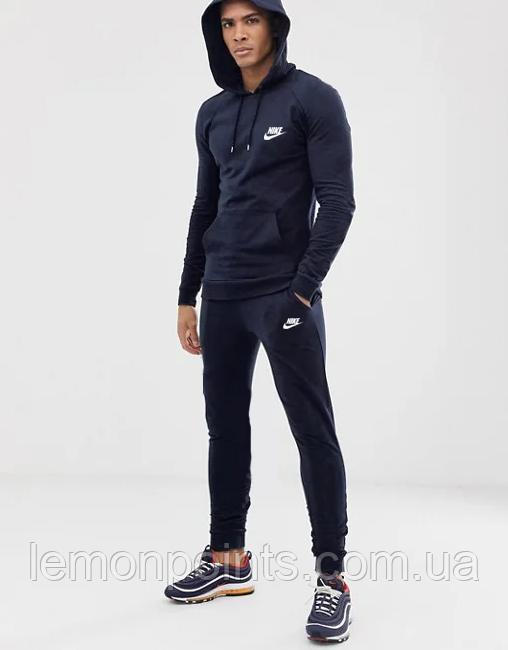 Теплий чоловічий спортивний костюм Nike (Найк) Темно-синій