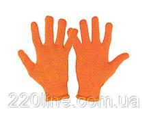 Перчатки трикотажные MASTERTOOL УНИВЕРСАЛ 70% хлопок/30% полиэстер 10 класс 2 нити 32 гр оранжевые 83-0315