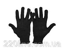 Перчатки трикотажные MASTERTOOL УНИВЕРСАЛ 70% хлопок/30% полиэстер 10 класс 2 нити 32 гр черные 83-0325