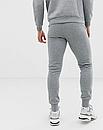 Теплый мужской спортивный костюм Puma с капюшоном (Пума) серый (Флис), фото 2