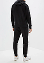 Теплый мужской спортивный костюм Puma с капюшоном (Пума) черный (Флис), фото 2