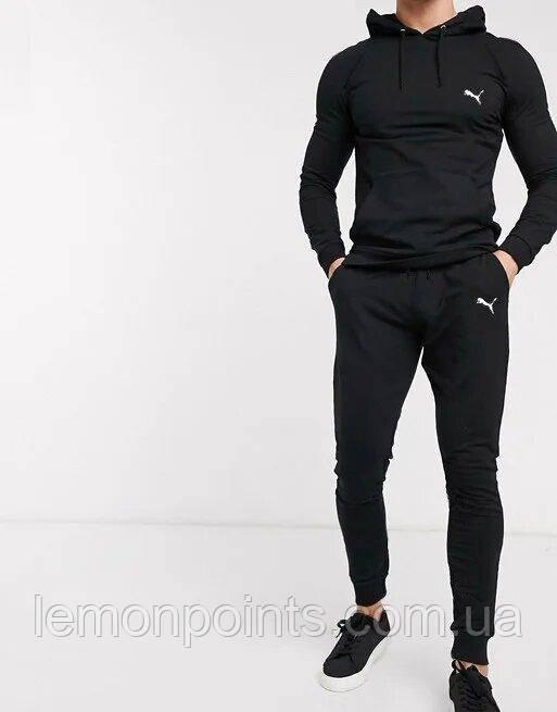 Теплий чоловічий спортивний костюм ФЛИС (до -25 °С) Puma (Пума) Чорний