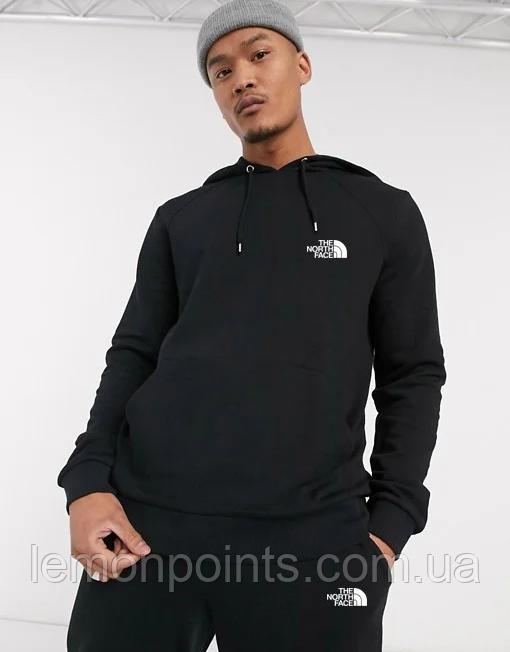 Теплый мужской спортивный костюм The North Face с капюшоном (Зе Норз Фейс) черный ФЛИС (до -25 °С)