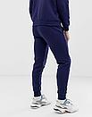 Теплый мужской спортивный костюм The North Face с капюшоном (Зе Норз Фейс) синий ФЛИС (до -25 °С), фото 2