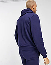Теплый мужской спортивный костюм Venum с капюшоном (Венум) синий (Флис), фото 3