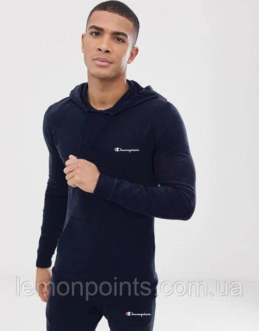 Теплий чоловічий спортивний костюм ФЛИС (до -25 °С) Champion (Чемпіон) Темно-синій