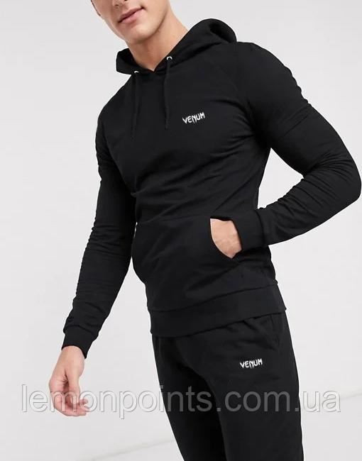 Теплий чоловічий спортивний костюм Venum (Венум) Чорний