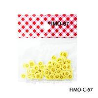 Фигурки FIMO в форме светло-желтого фрукта. FIMO-C-67