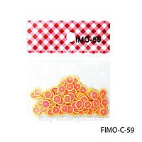 Фигурки FIMO в форме красного фрукта. FIMO-C-59