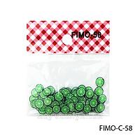 Фигурки FIMO в форме зеленого фрукта.  FIMO-C-58