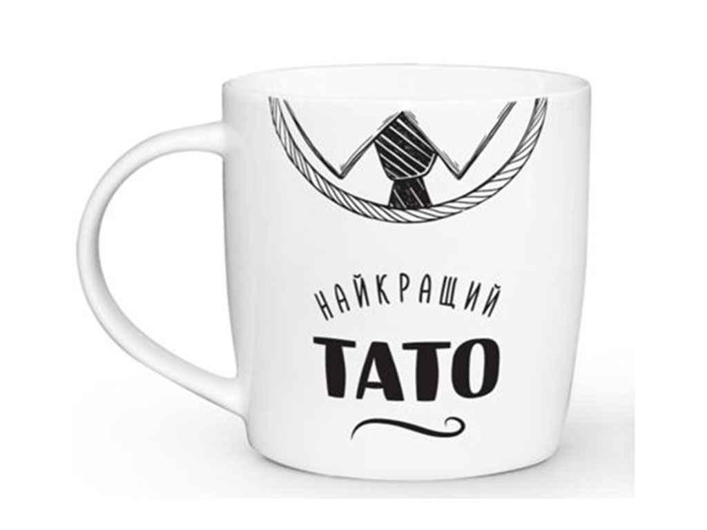 Чашка 360мл Бочка Найкращий Тато 1801 в под. коробці ТМ KVARTA