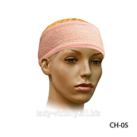Круглая махровая повязка для фиксации волос. CH-05