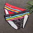 Плавки UXH с карманом для пуш-ап красного цвета в полоску, фото 7