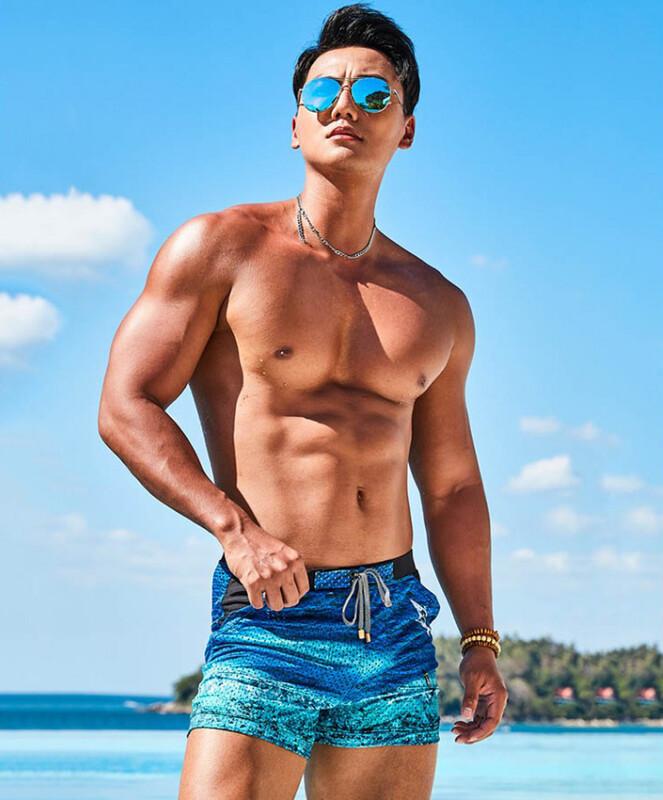 Плавки-боксери пуш-ап Gailang з кишенями синього кольору