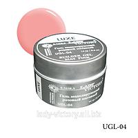 Розовый матовый моделирующий гель «Luxe». UGL-04