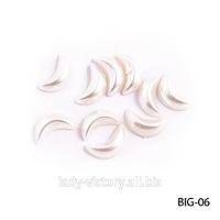 Матовые жемчужные «полумесяцы». BIG-06