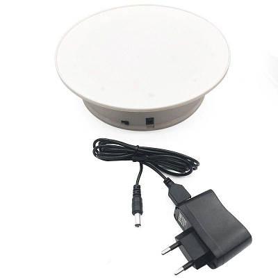 Поворотный стол для предметной съемки и 3D фото Heonyirry C366, диаметр 20 см, белый (УЦЕНКА - небольшое
