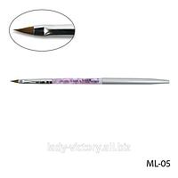 Натуральная кисть для акрила № 3. ML-05